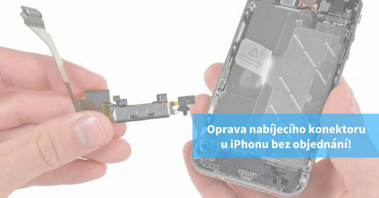 Oprava nabíjecího konektoru iPhone