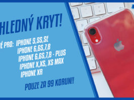 Pruhledný kryt na iPhone za 99 korun