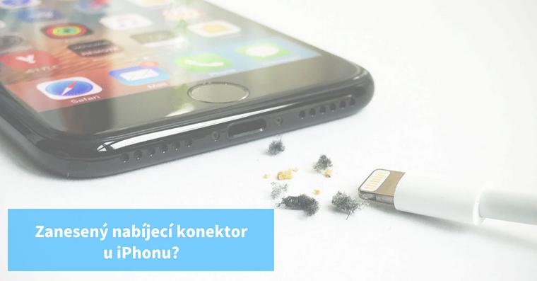 Vyčištění nabíjecí konektoru iPhonu