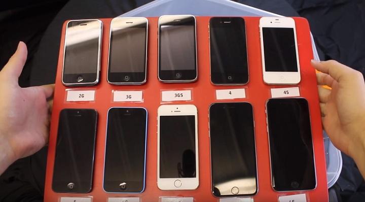 Test voděodolnosti všech generací iPhone na jednom videu! Tohle ... dfe48286534