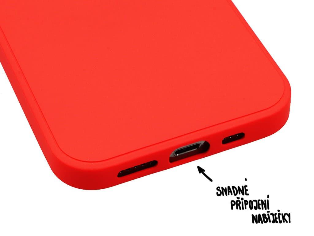 Silikonový obal na iPhone 12, iPhone 12 Pro – Červený – 3